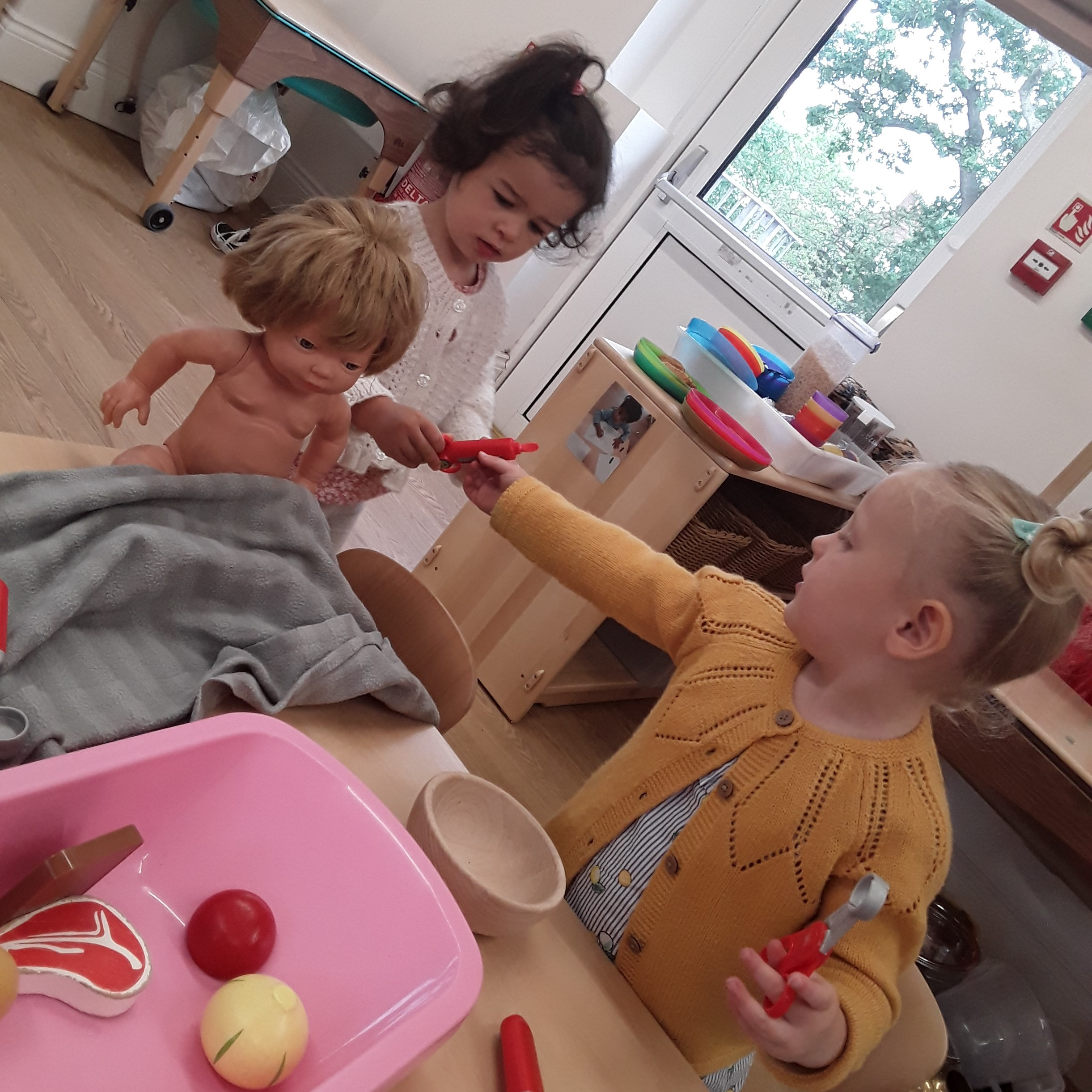 The toddlers at Kings Norton have been focusing on health and self-care, role play and expressive art and design