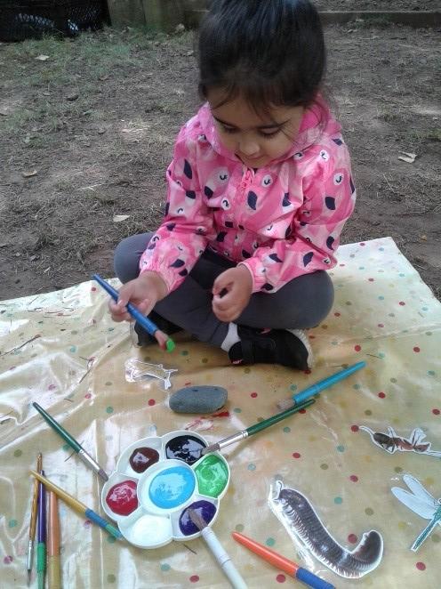 Wolverhampton Preschool have enjoyed painting their favourite bugs onto rocks!