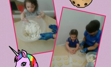 The Toddlers enjoyed making their own yummy unicorn cookies!
