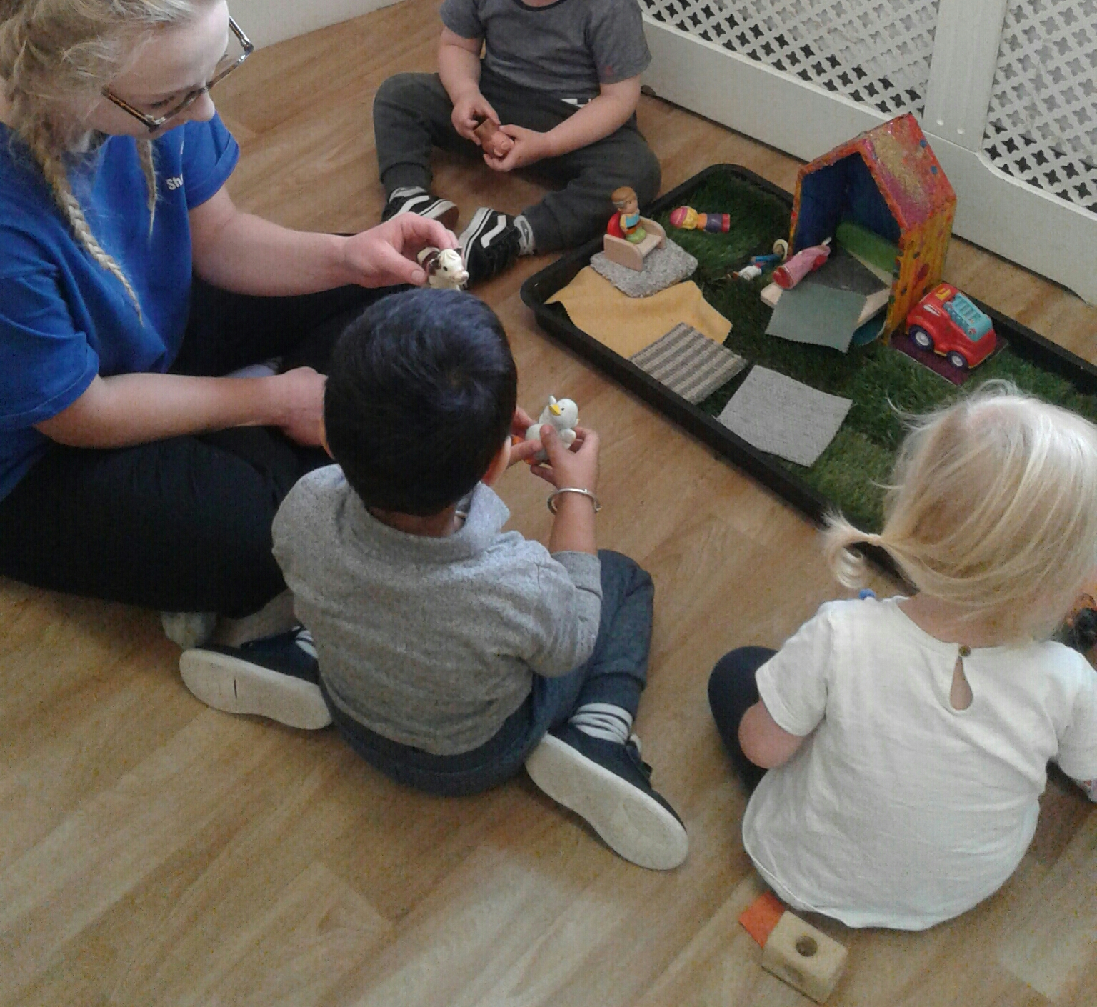 The Stourbridge Toddlers have been busy exploring the farmyard role-play.