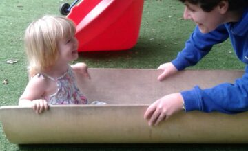 The toddlers have enjoyed playing with the row row boat in the garden