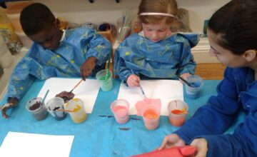 The Stourbridge preschool children have been exploring their similarities and differences with self portraits