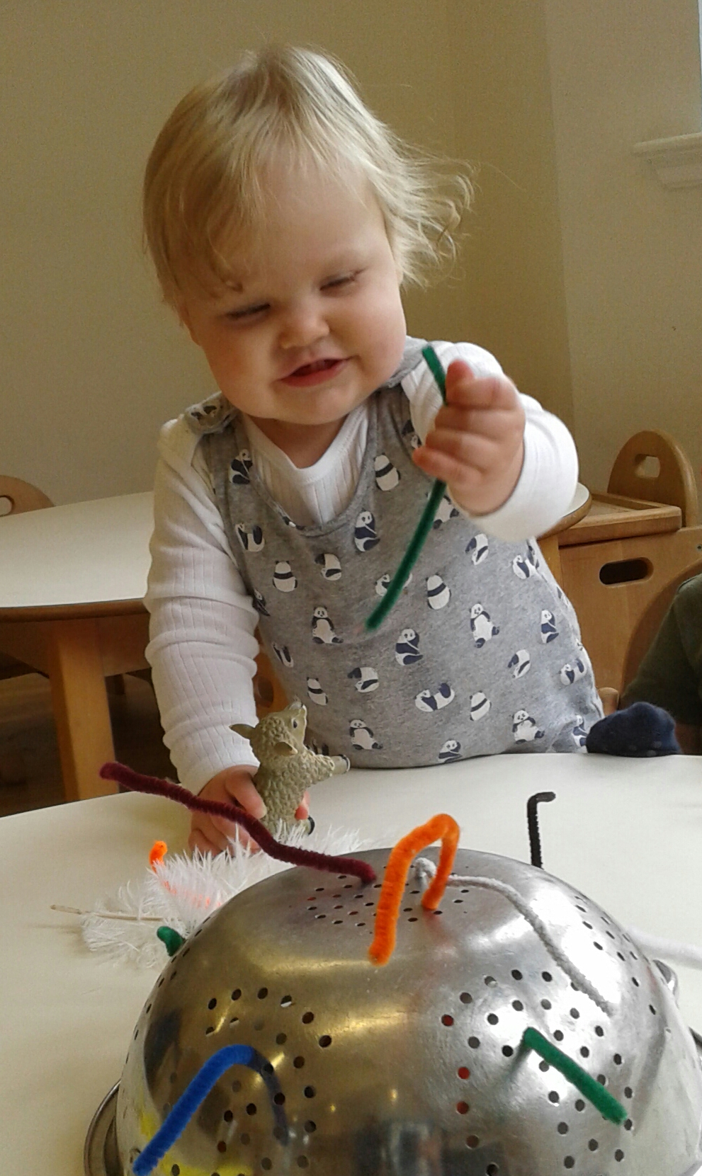 The babies have been very busy getting messy and developing their fine motor skills