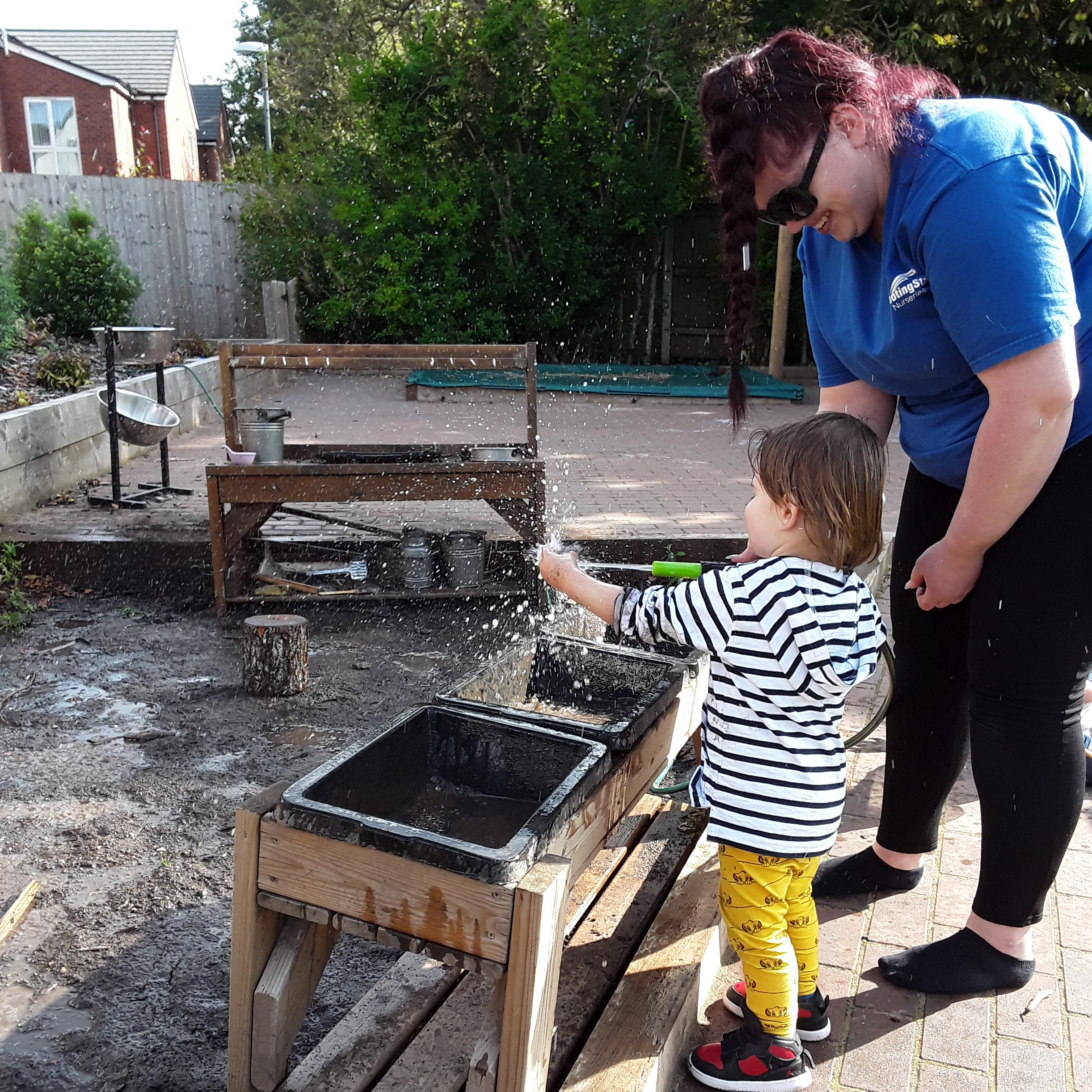 The Kings Norton Pretoddlers have been exploring nature in the lovely weather this week