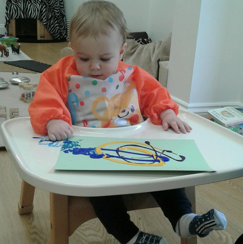 The Bromsgrove Babies have been mark making this week