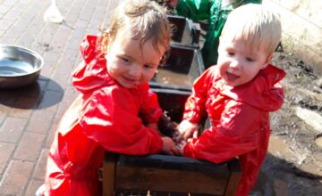 The Kings Norton Toddlers have been enjoying muddy and messy activities this week!