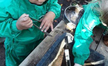 The Kings Norton Preschool children have been very busy with construction, painting and exploring nature