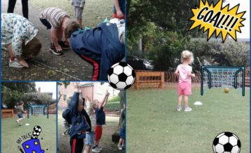 Preschool have enjoyed a fun football session in PE
