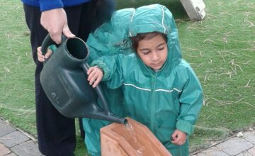 The Bromsgrove Toddlers have been enjoying water play in the garden