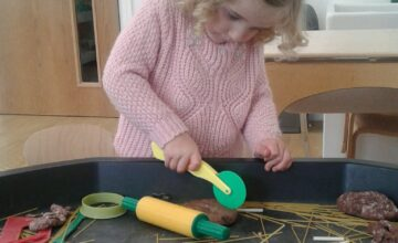 The Bromsgrove Toddlers have taken an interest in the seasonal changes happening around them