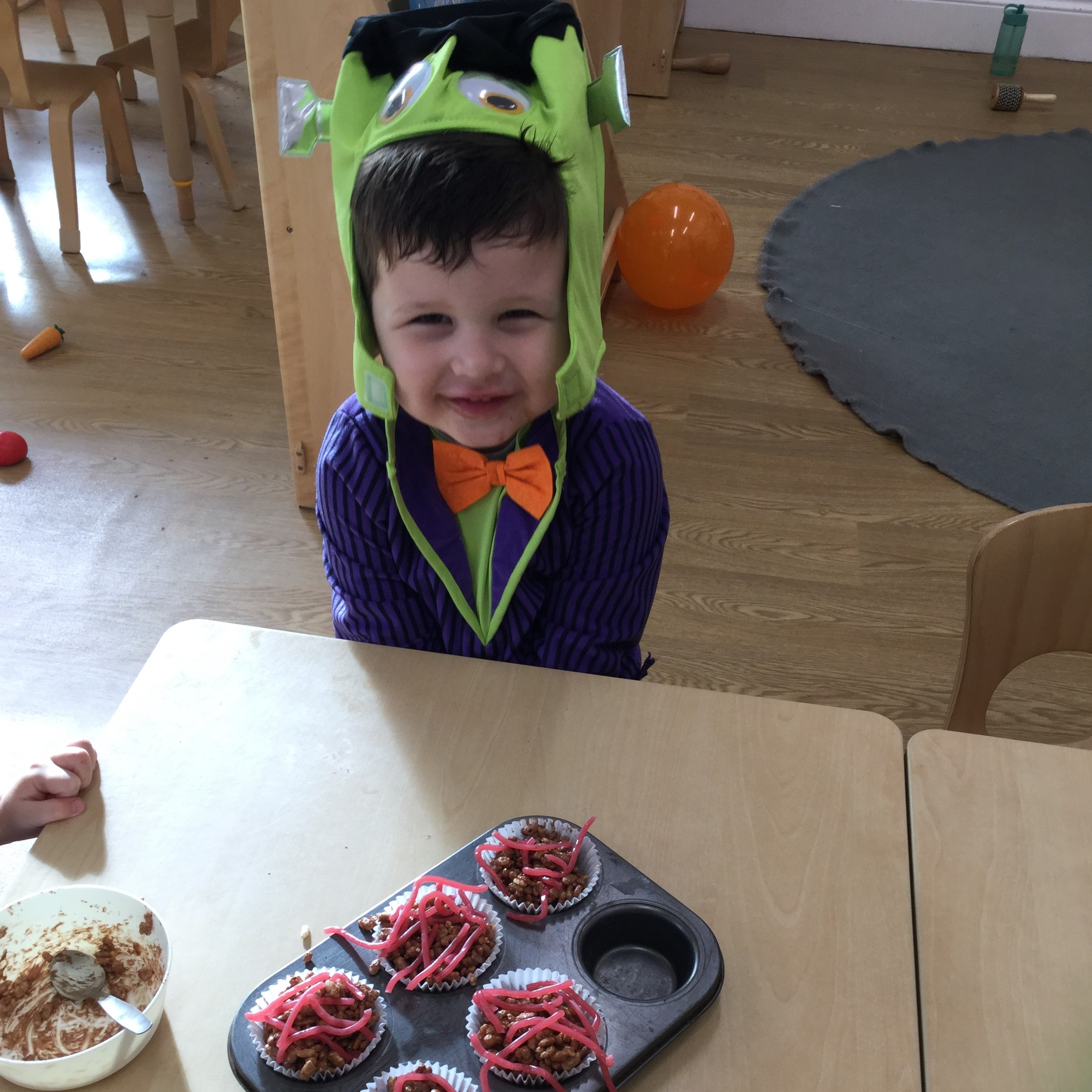 The toddlers are enjoying dressing up as their favourite spooky characters for halloween