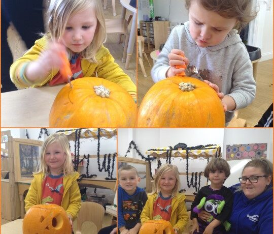 Bromsgrove – Preschool pumpkin carving