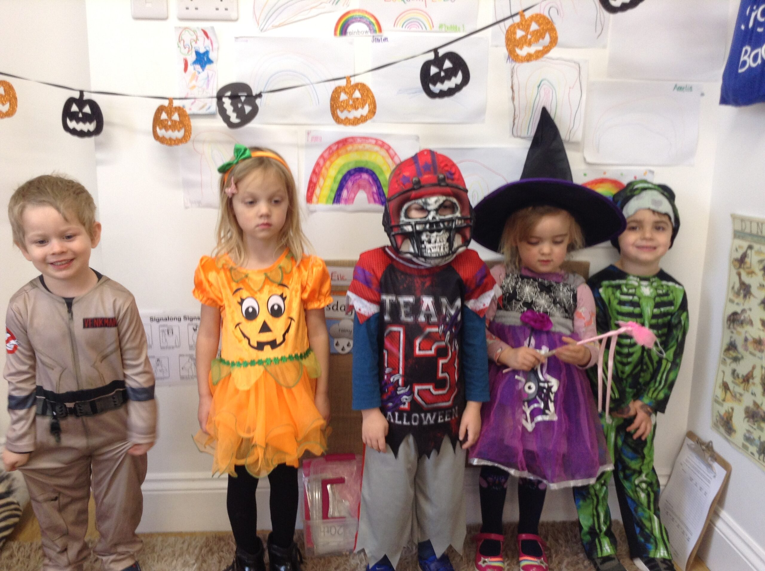 Preschool are enjoying dressing up as their favourite spooky characters for halloween