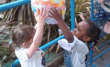 The children enjoyed making, decorating and flying their hot air balloons