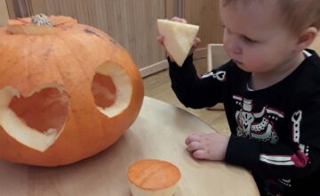 The children enjoyed lots of Halloween sensory activities