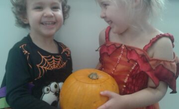 The children enjoyed a fun-filled party day at nursery to celebrate Halloween