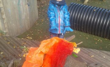 The children enjoyed exploring bonfire night indoors and outdoors