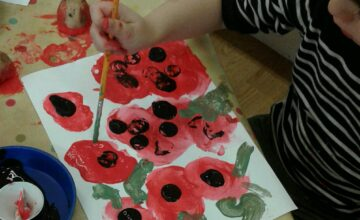 Preschool have been learning and about Remembrance