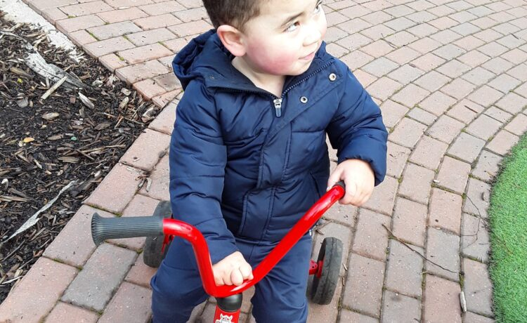 Kings Norton – Riding our bikes in the windy weather
