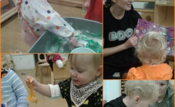 The Pretoddlers had a great time exploring Halloween