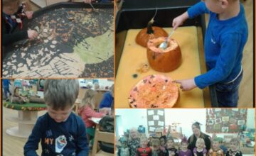 All of the children enjoyed getting involved with our halloween spook-tacular!