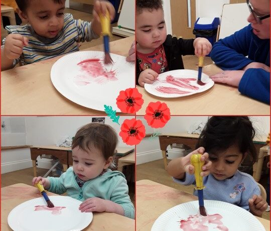 Kings Norton – Pretoddlers poppy painting