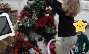 The children have been getting excited for Christmas at nursery