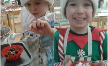 The preschool elves have been working very hard in their christmas workshop making treats