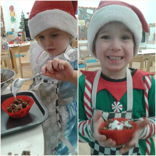The preschool elves have been working very hard in their christmas workshop making treats