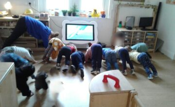 The Preschool children have taken part in a fun themed yoga session to boost their wellbeing