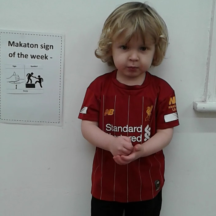 The children have learnt a new sign for
