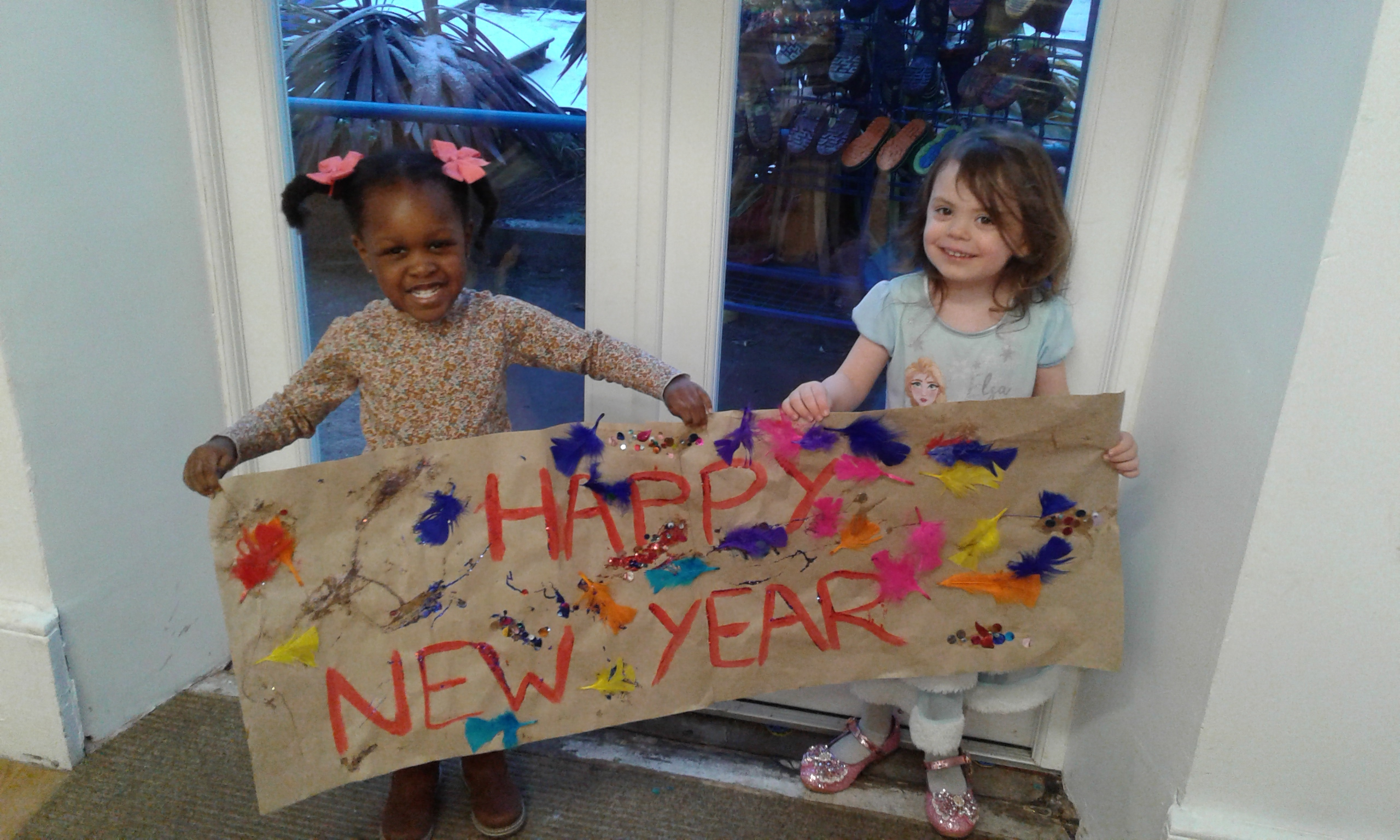 Each room hosted a party to celebrate the New Year