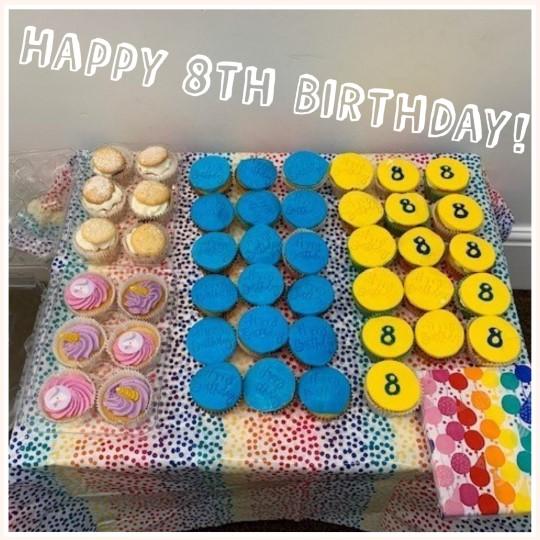 Hip Hip Hooray, Happy 8th Birthday!