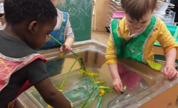 Nursery was very busy yesterday exploring St David