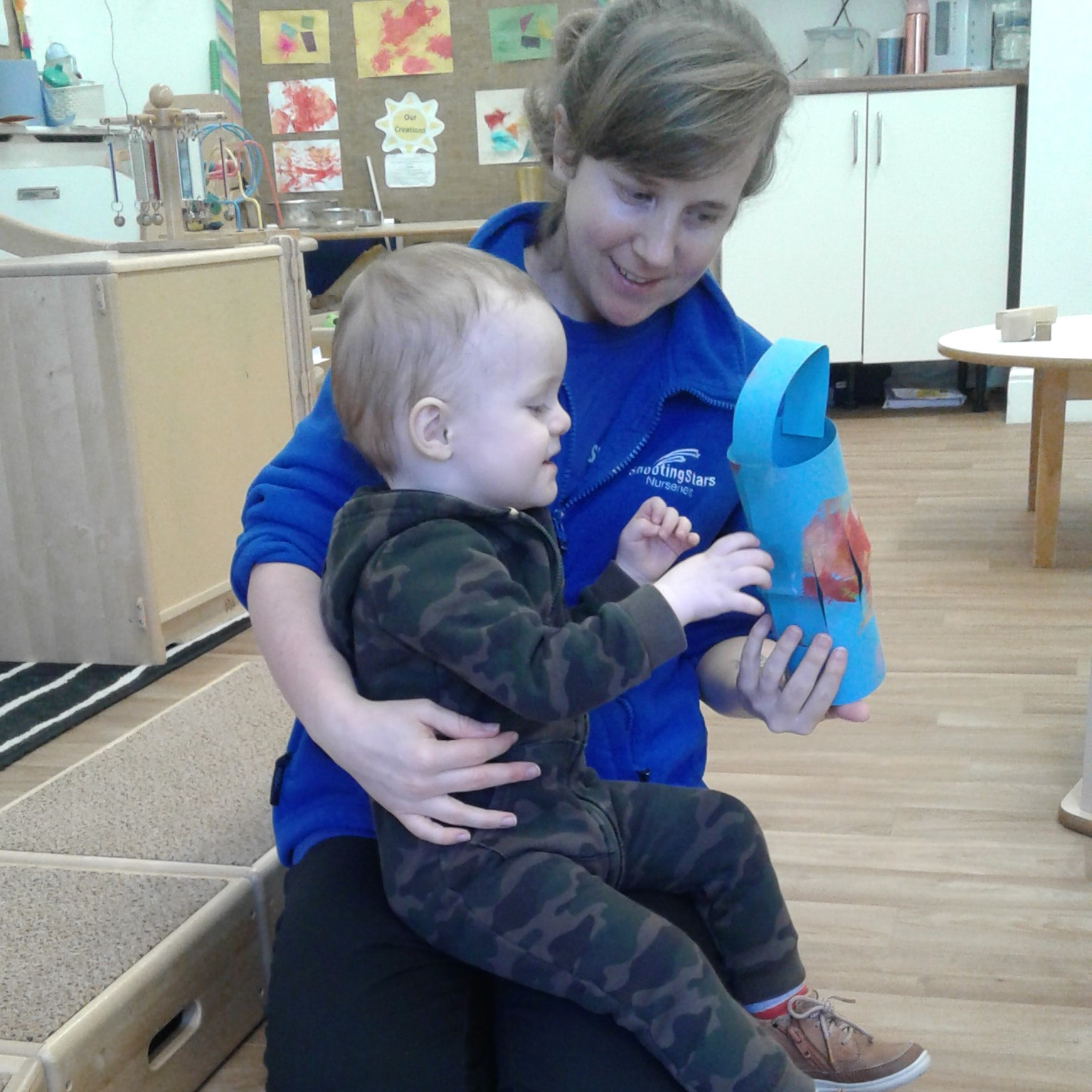 The babies have enjoyed exploring paint to celebrate the Spring Lantern Festival