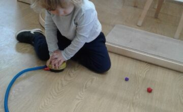 Preschool were excited at their discovery this morning