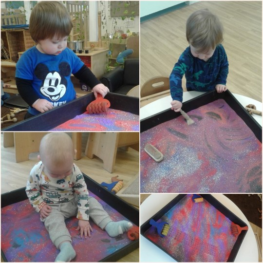 The babies have enjoyed making their mark
