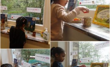 We set up a voting station for the children to exercise their right to vote