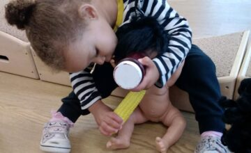 The children love to explore everyday situations through role play