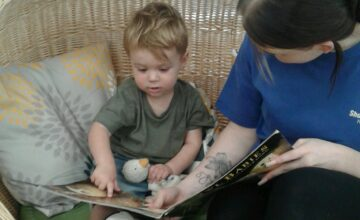 Our new cosy basket is the perfect spot for sharing and exploring a story