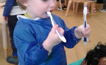 The toddlers have been practising their self-care skills