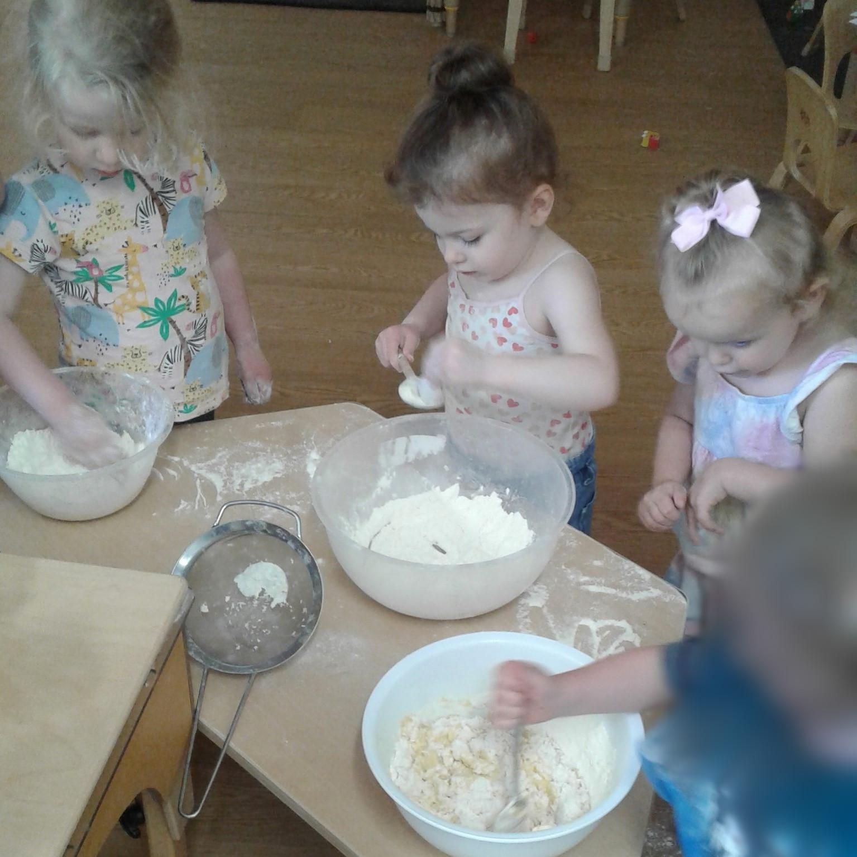 Preschool 1 enjoyed round 2 of their baking experience